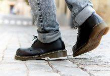 Черные ботинки Доктор Мартинс - Stone Forest