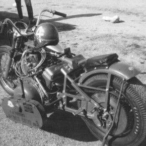Мотоцикл готовится к гонке