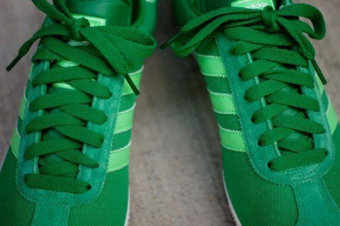 Зеленые кроссовки Adidas Gazelle - Stone Forest