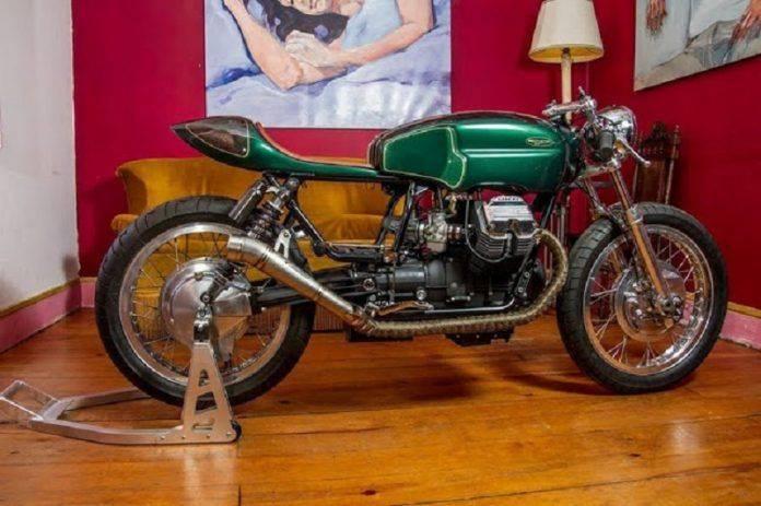 Кастомный байк Moto Guzzi V65 'Mondego' - Stone Forest