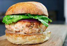 Salmon Burger - Stone Forest