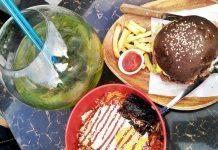 бургер с картошкой и лаймом - Stone Forest