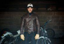 Кожаная куртка Edwin S.E.B. Motorcycle Jacket - Stone Forest
