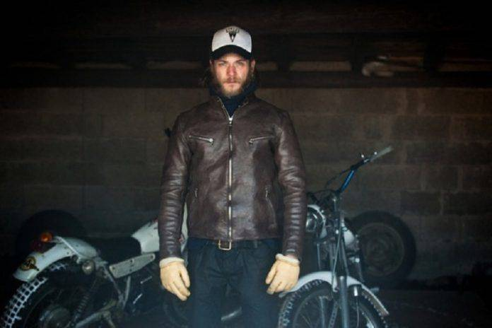 Кожаная куртка Edwin S.E.B. Motorcycle Jacket - Stone Forest