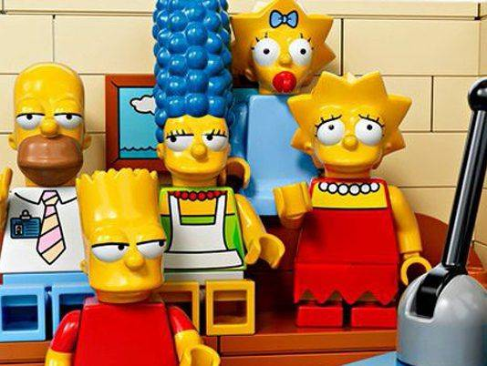 The Simpsons в наборе Lego - Stone Forest