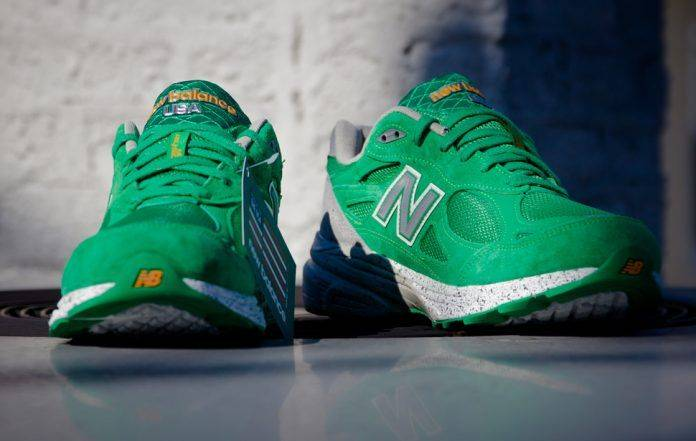 New Balance 990 St Patricks Day - Stone Forest