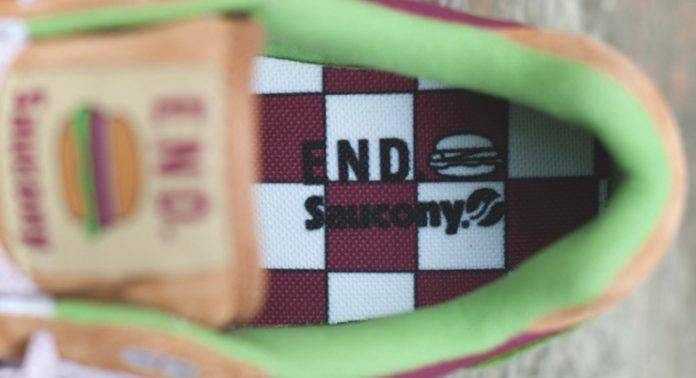 "END. x Saucony Shadow 5000 ""Burger"" - Stone Forest"