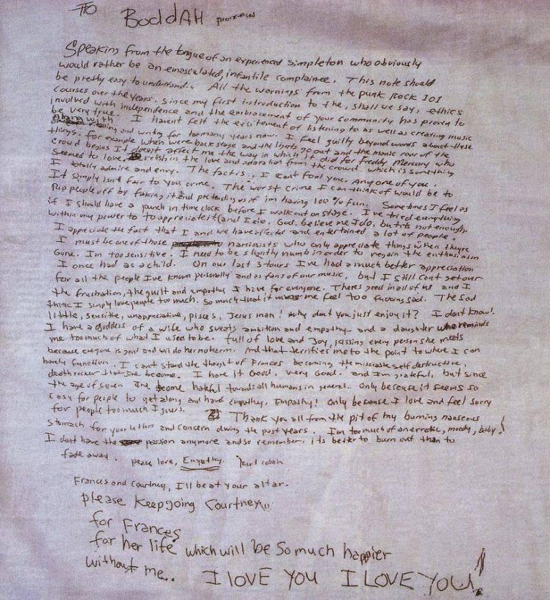 Предсмертная записка Курта Кобейна - Каменный лес Stone Forest