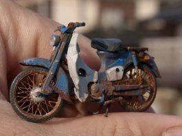 Миниатюрный мотоцикл Сатоши Араки - Stone Forest