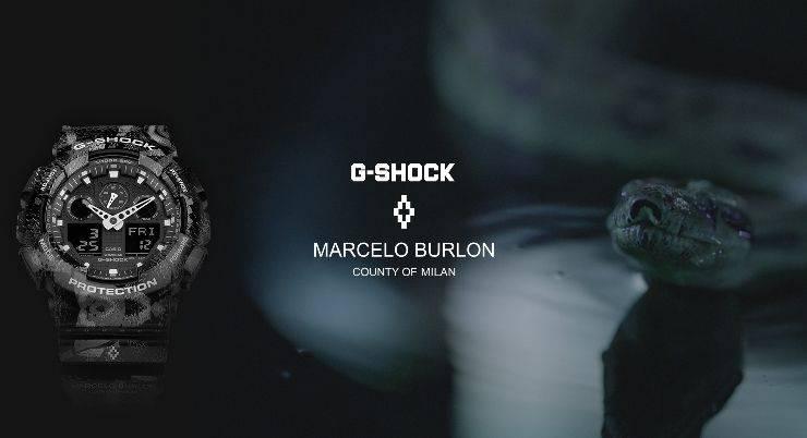Часы G Shock x Marcelo Burlon - Stone Forest