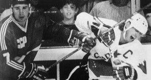 Самая Легендарная и массовая хоккейная драка СССР-Канада, 1987 год.