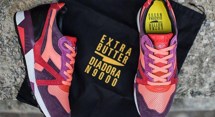 Extra Butter x Diadora N9000 - Stone Forest
