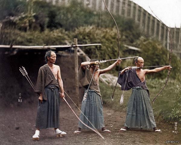Японские лучники. 1860 год - Stone Forest