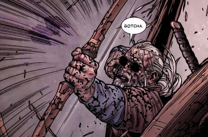 Слепой Соколиный Глаз из комикса Старик Логан - Stone Forest
