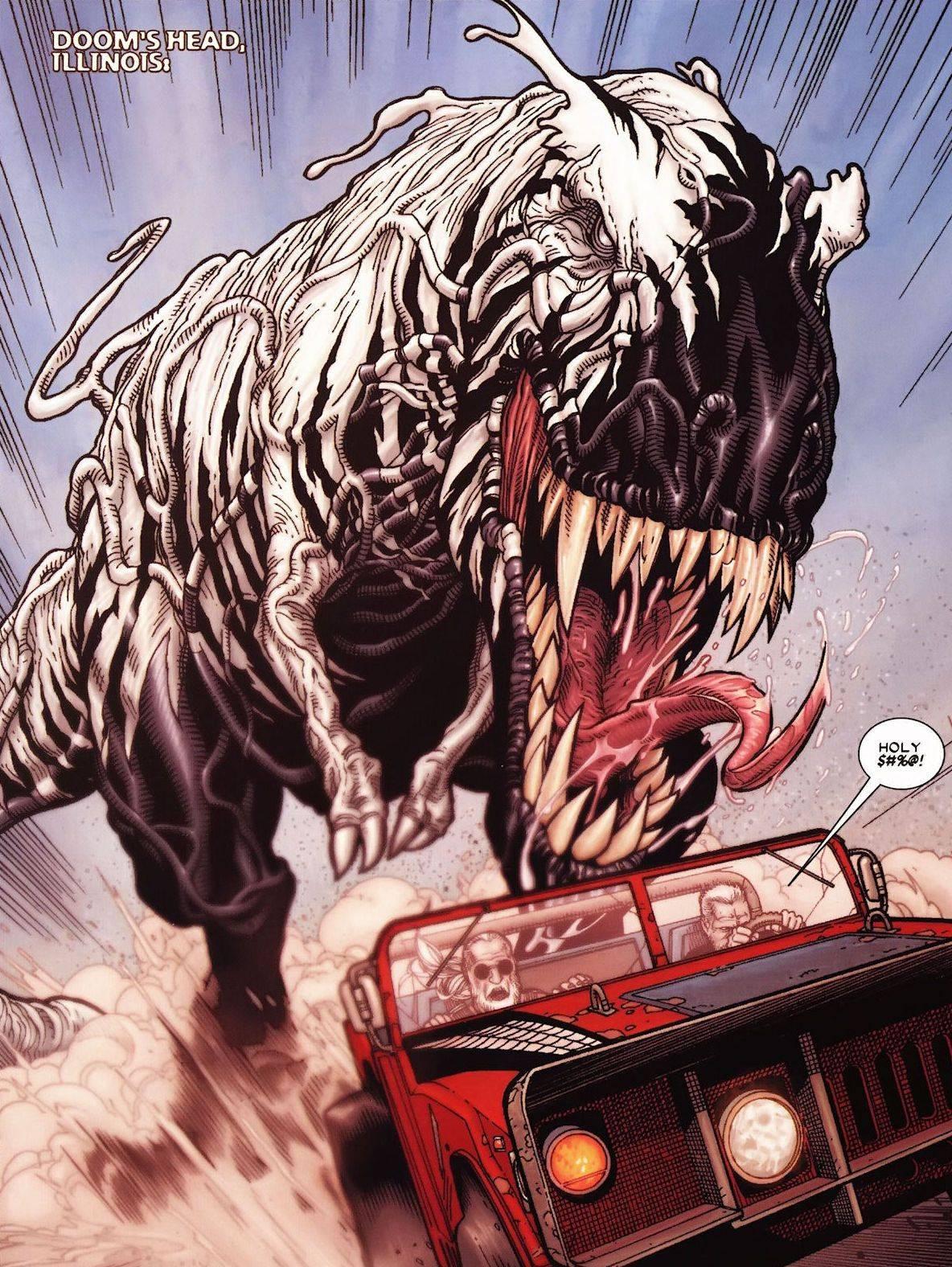 Веном Динозавр из комикса Старик Логан - Stone Forest