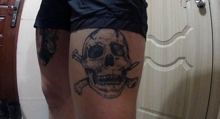 Татуировка черепа - Stone Forest