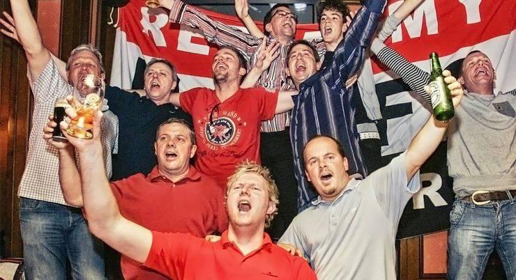 Московские фанаты Манчестер Юнайтед- Stone Forest