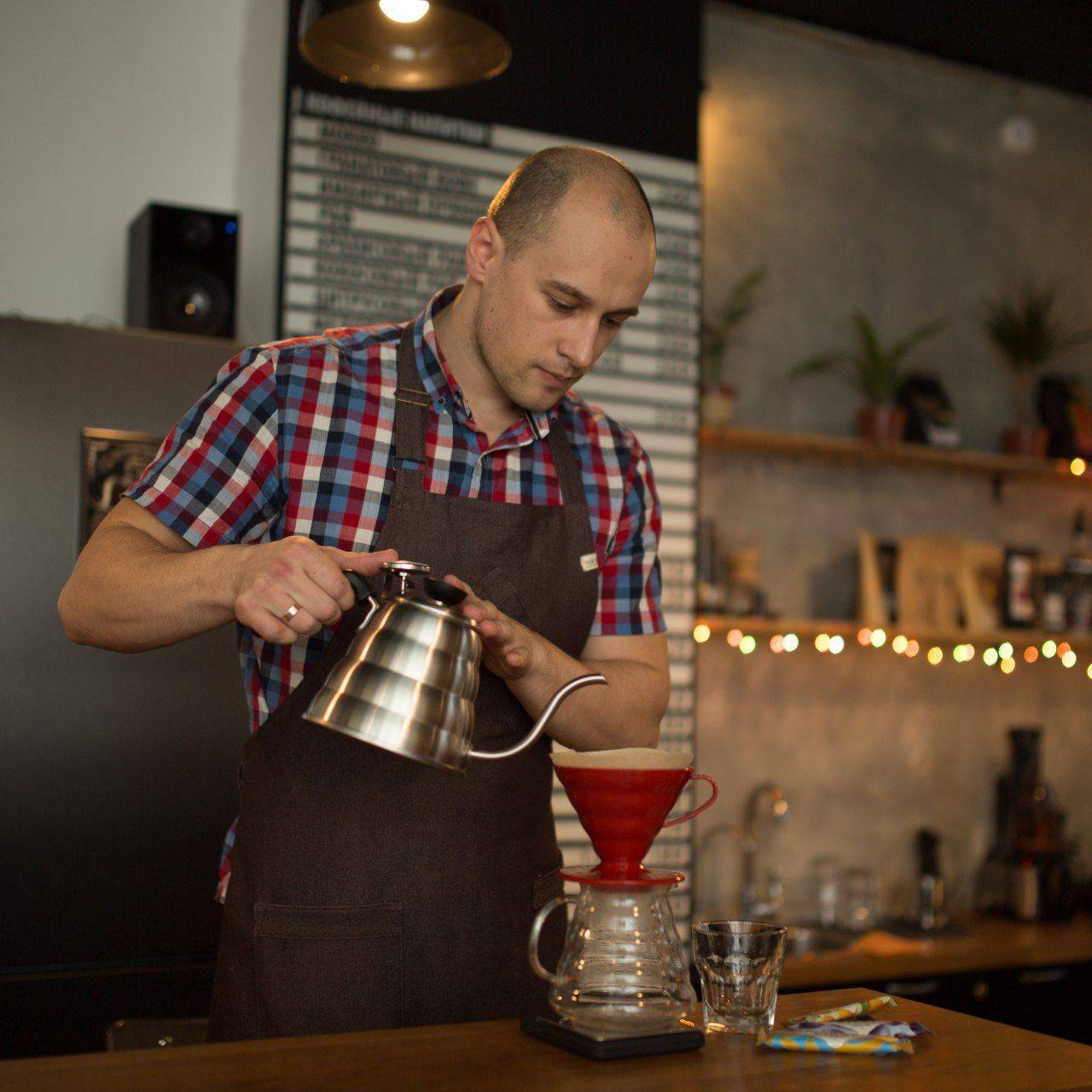 Способ приготовления Пуровер(воронка) - статья что такое брю бар - стон форест