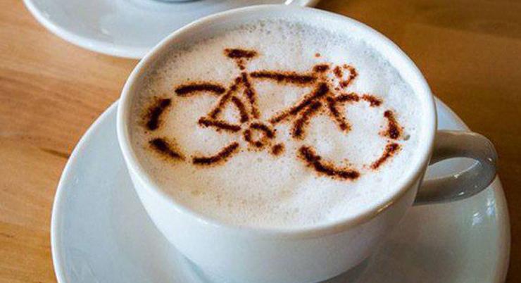 Рисунок на капучино велосипеда - Stone Forest