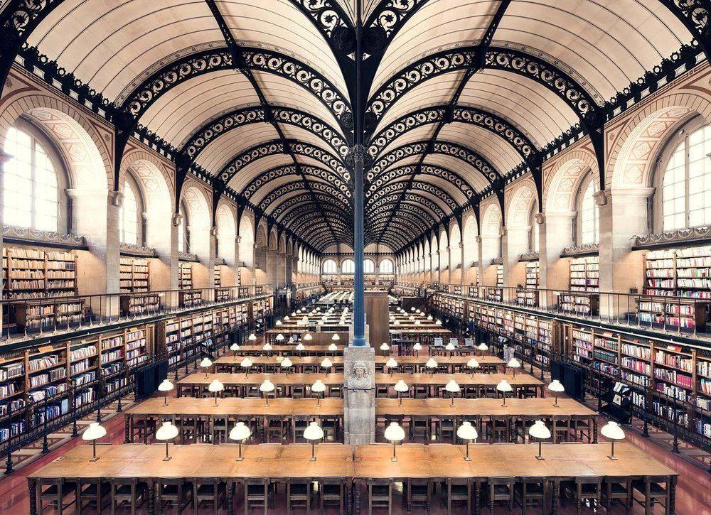Bibliothèque Sainte Geneviève Paris 1850 - Stone Forest