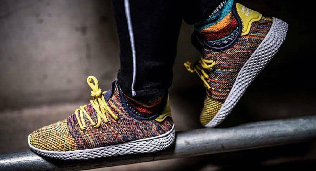 Кроссовки adidas Originals x Pharrell Williams Tennis Hu Pack - Stone Forest