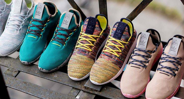 Модели adidas Originals x Pharrell Williams Tennis Hu Pack - Stone Forest