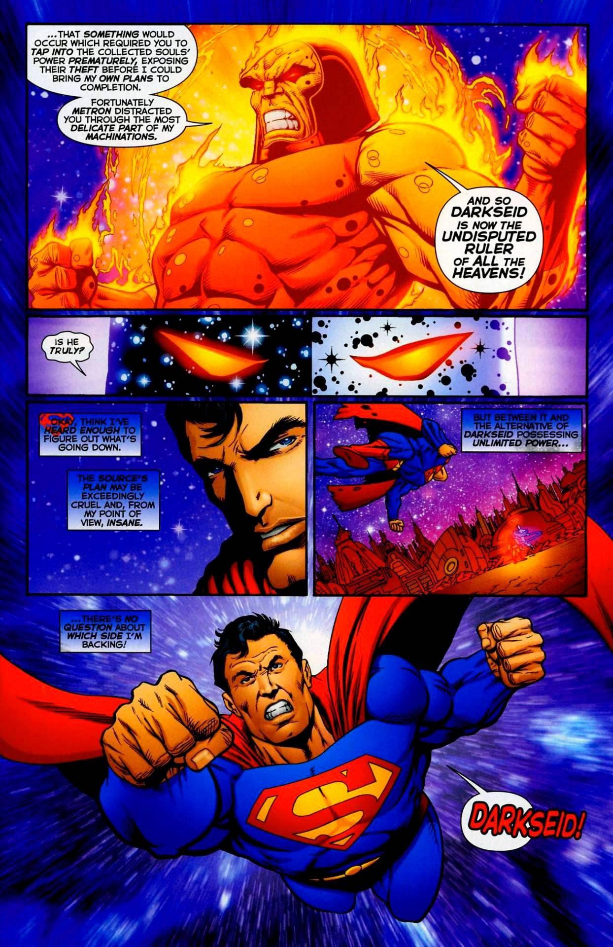 Дарксайд решил, что худшей судьбой для Супермена будет прожить остаток своих дней в заточении