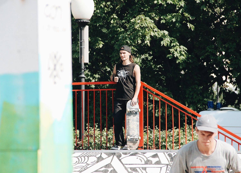 Скейтеры на Faces&Laces 2017 в Парке Горького - Stone Forest