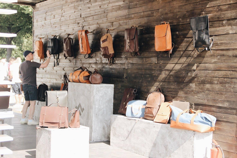 Кожаные сумки и рюкзаки на Faces&Laces 2017 в Парке Горького - Stone Forest