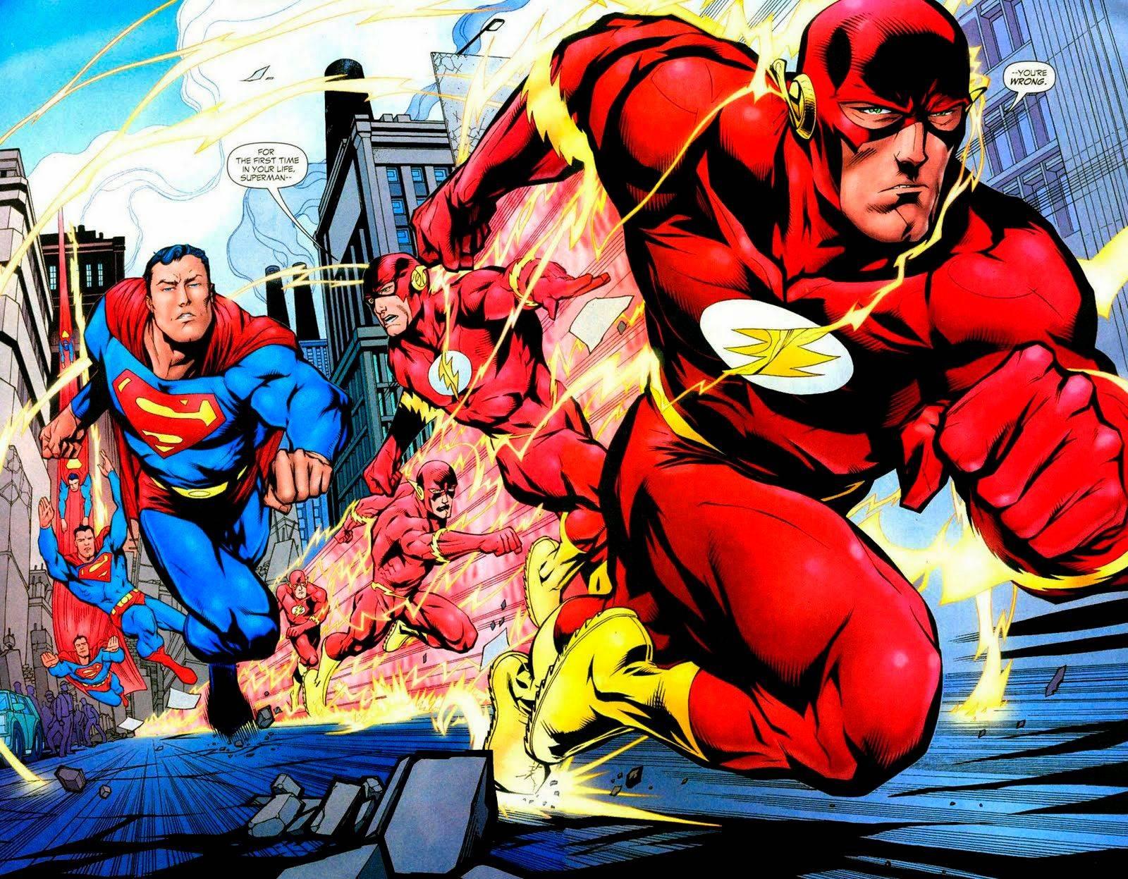Супергерой Флэш победил Бэтмена