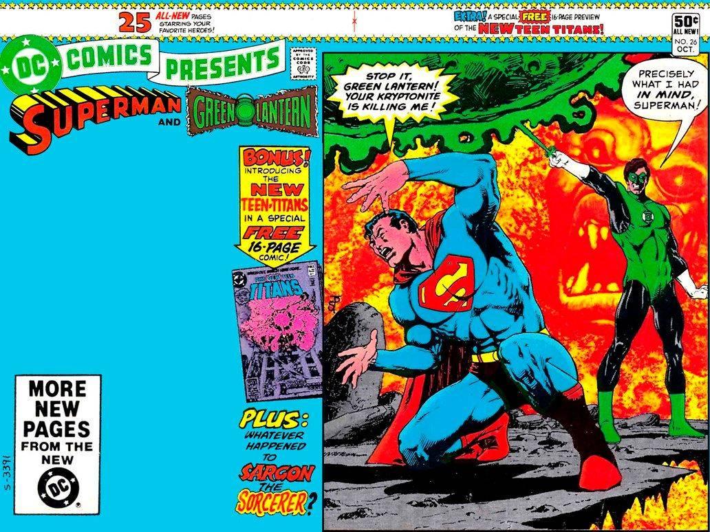 Злодей по имени Н'Гон победил Зеленого Фонаря и создал копию его тела, заодно забрав кольцо. Именно Н'Гон с помощью кольца создал большой осколок криптонита с целью убить Супермена