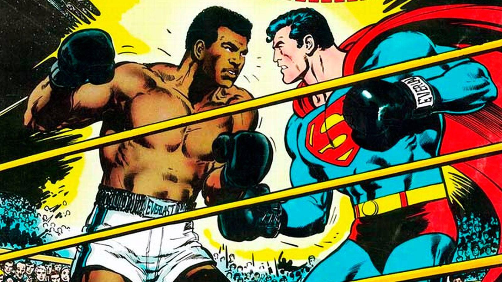 Мухамед Али победждает на ринге Супермена