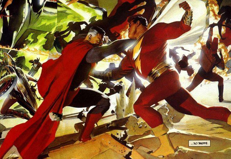 Шазам побеждает Супермена