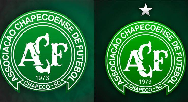 Логотип Шапекоэнсе со звездами - Stone Forest