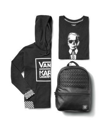 Коллаборация одежда и рюкзак Vans x Karl Lagerfeld - Stone Forest