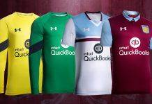 Under Armour Aston Villa Kit - Stone Forest