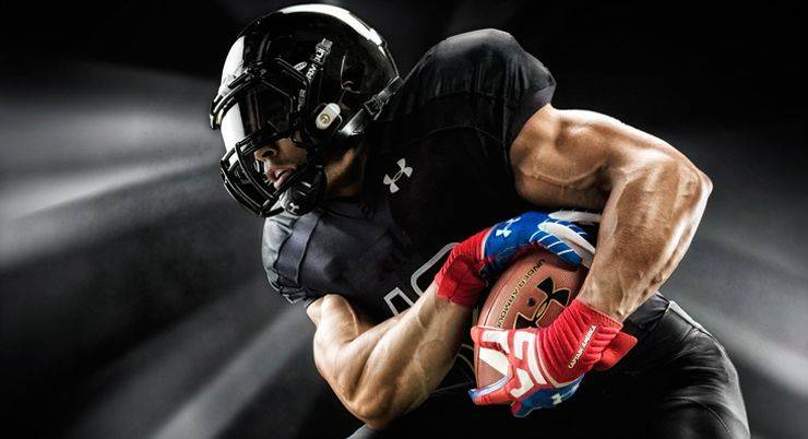 Under Armour American Football Kit - Stone Forest