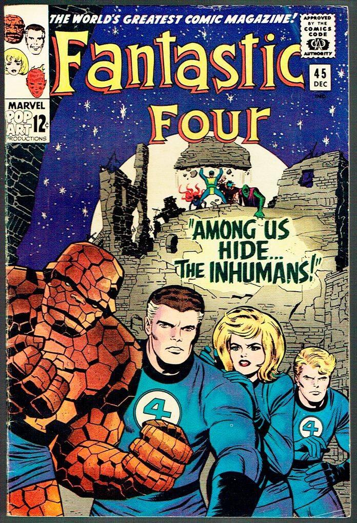 Впервые Нелюди появились в комиксе Фантастическая четвёрка №45