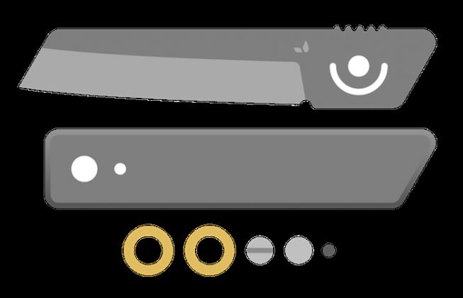 Японкий нож Grovemade higonokami - Stone Forest