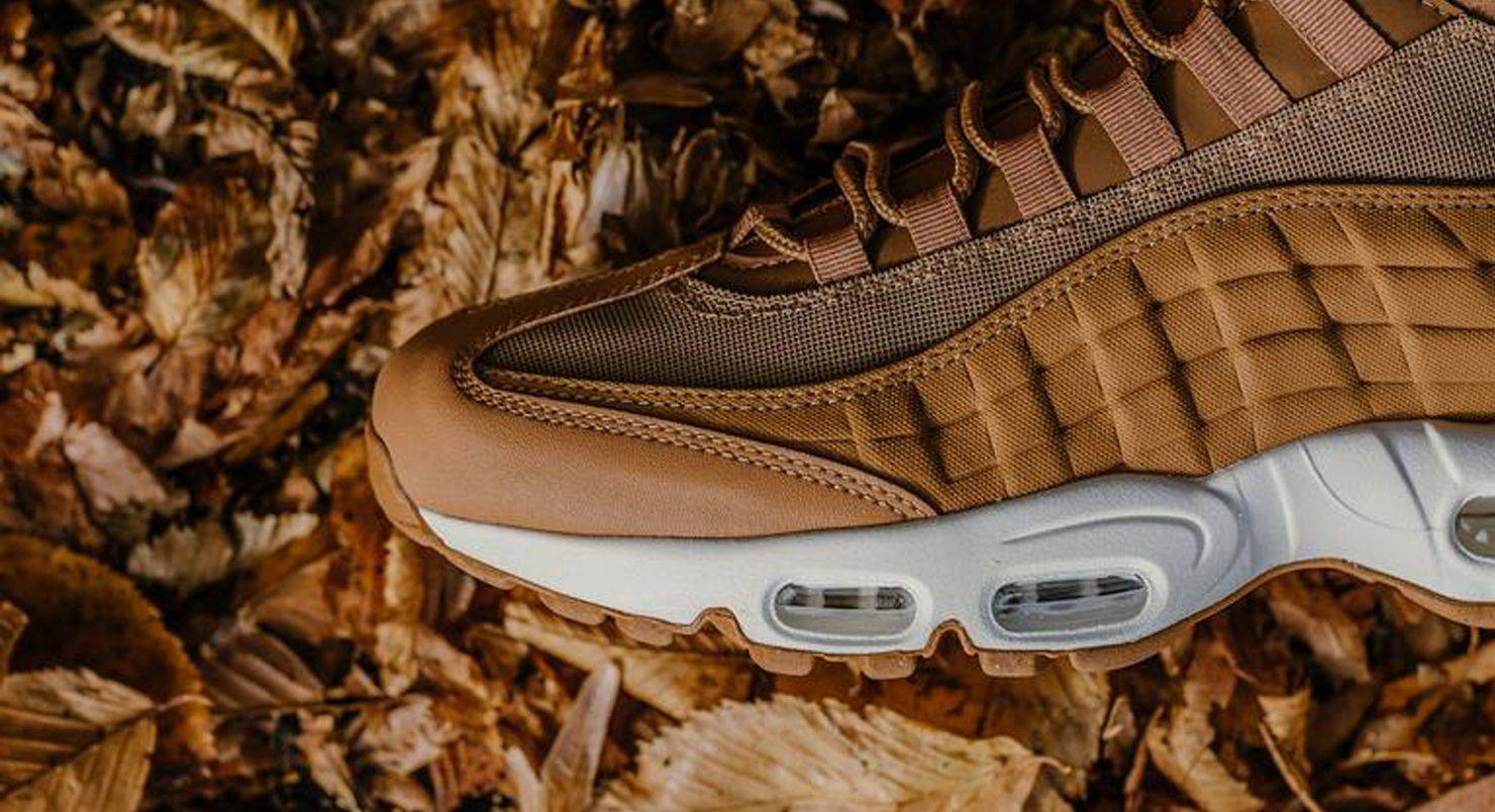 best service 10165 29fb5 Nike Air Max 95 Sneakerboot Flax Ale Brown Sail - Stone Forest