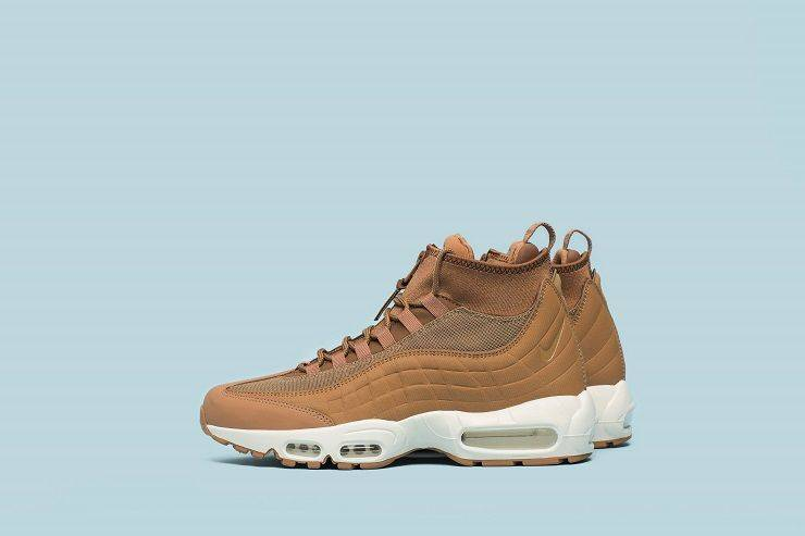 Кроссовки Nike Air Max 95 Sneakerboot Flax/Ale Brown/Sail - Stone Forest
