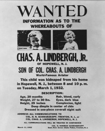 Объявление о похищении сына Чарльза Линдберга - Stone Forest