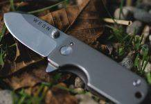 The WESN Titanium Micro Blade EDC Pocket Knife Keychain - Stone Forest