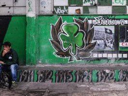 Граффити фанатов Панатинаикоса - Stone Forest