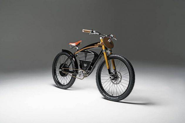 Электро байк Vintage Electric Scrambler - Stone Forest