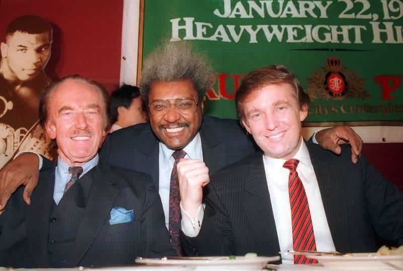 Дональд Трамп с отцом Фредом Трампом и боксерским проумотером Доном Кингом - Stone Forest