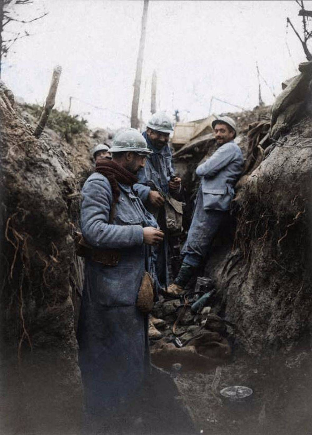 Цветные фотографии Первой мировой войны - Stone Forest