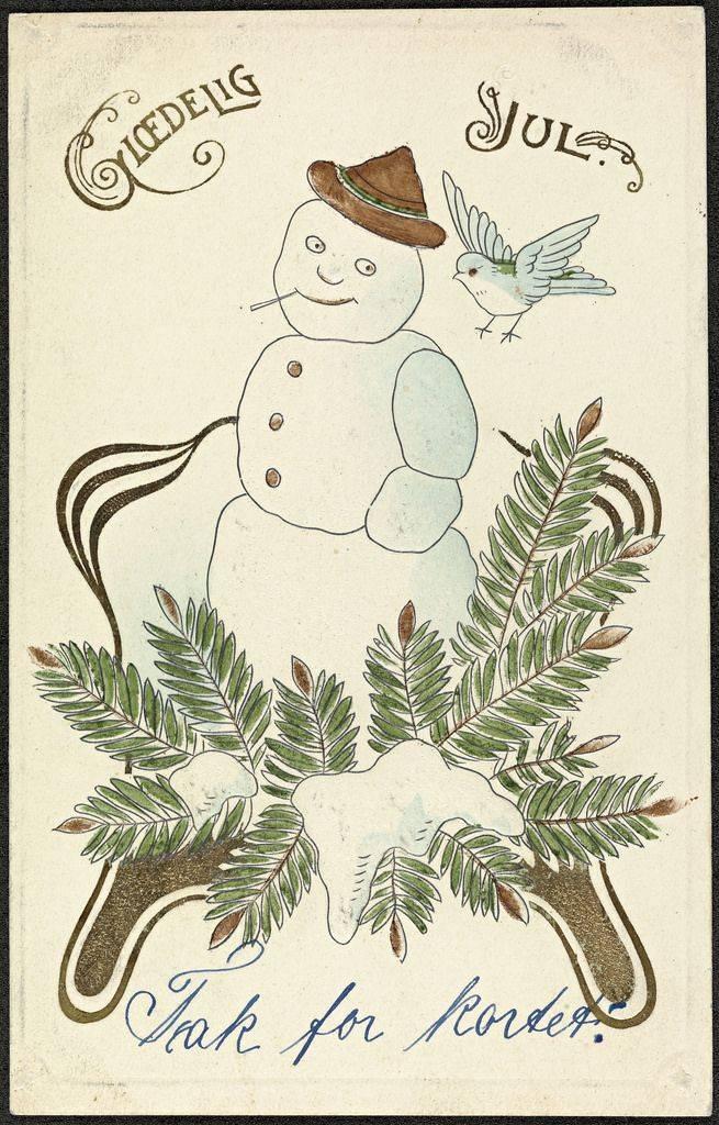 Рождественская открытка из Норвегии - Stone Forest