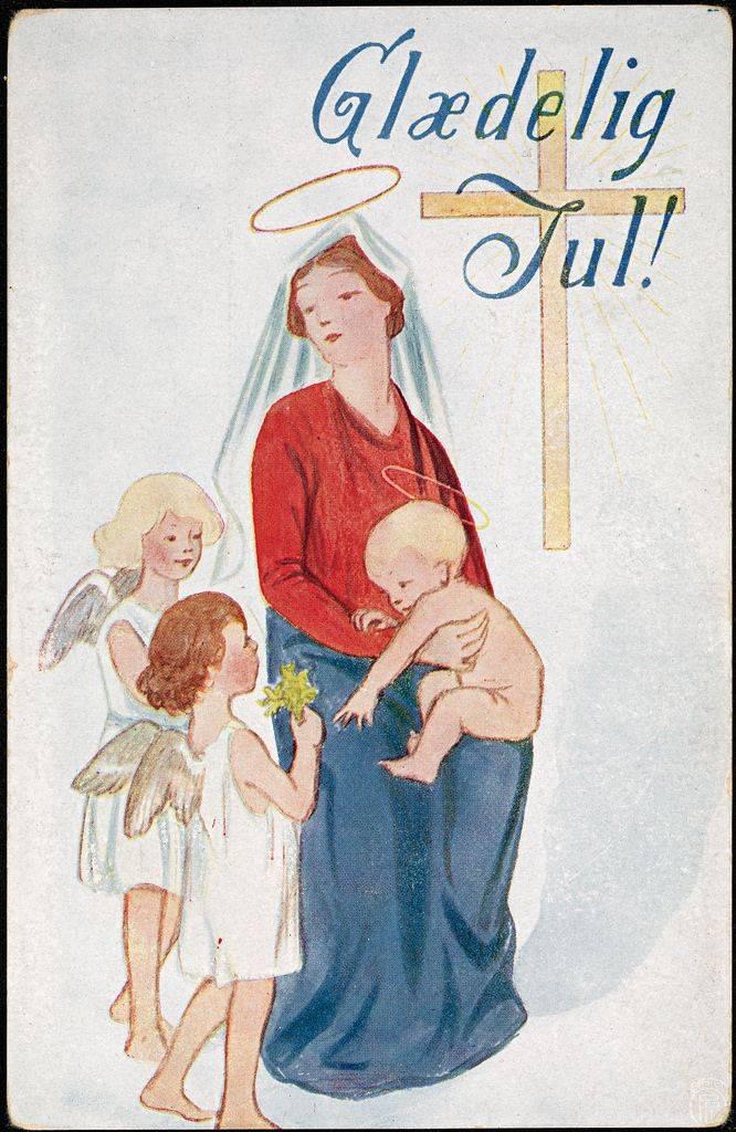 Рождественская открытка из Норвегии ручной работы - Stone Forest