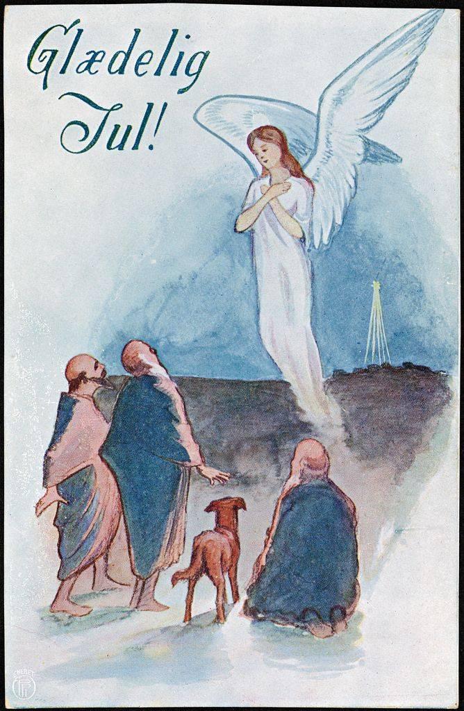 Рождественская открытка из Норвегии 20 век - Stone Forest